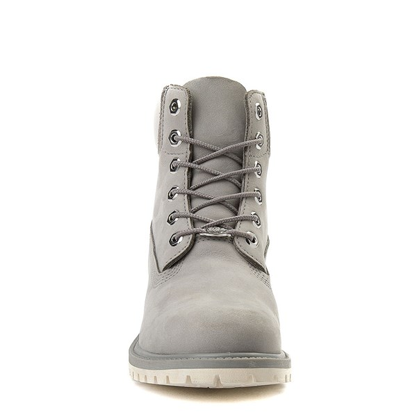 "alternate view Womens Timberland 6"" Metallic Collar Premium Boot - Gray / WhiteALT4"