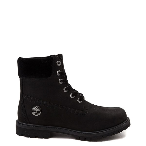 "Womens Timberland 6"" Premium Velvet Collar Boot - Black"