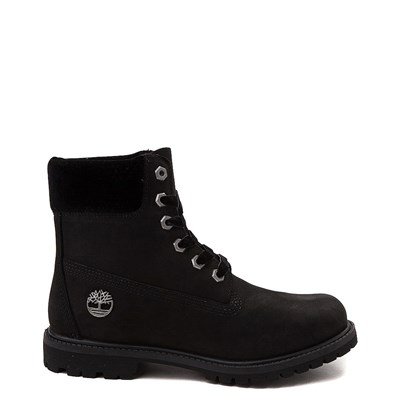 "Main view of Womens Timberland 6"" Premium Velvet Collar Boot - Black"