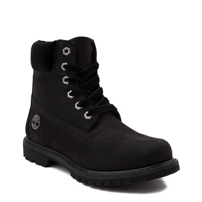 "Alternate view of Womens Timberland 6"" Premium Velvet Collar Boot - Black"