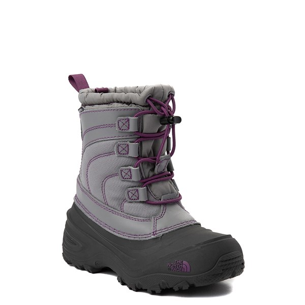 alternate view The North Face Alpenglow IV Boot - Little Kid - Frost GrayALT1