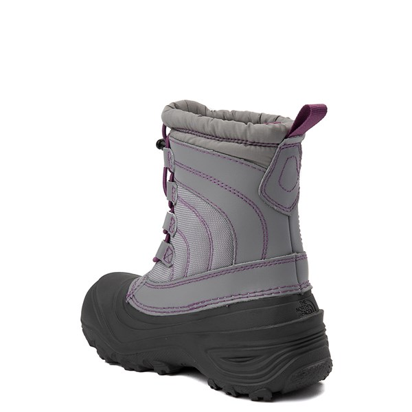 alternate view The North Face Alpenglow IV Boot - Little Kid - Frost GrayALT2