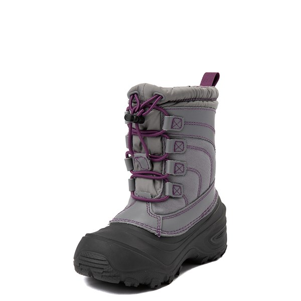 alternate view The North Face Alpenglow IV Boot - Little Kid - Frost GrayALT3