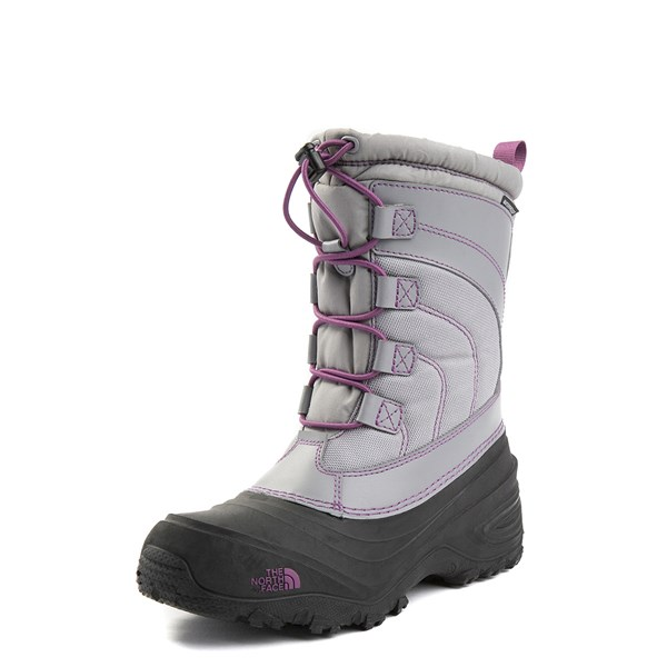 alternate view The North Face Alpenglow IV Boot - Big Kid - Frost GrayALT1