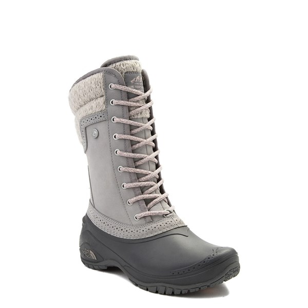 alternate view Womens The North Face Shellista II Mid Boot - Gray / PinkALT1