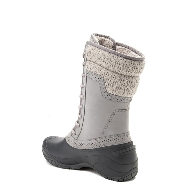 alternate view Womens The North Face Shellista II Mid Boot - Gray / PinkALT2