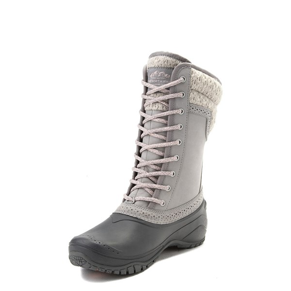 alternate view Womens The North Face Shellista II Mid Boot - Gray / PinkALT3