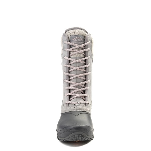 alternate view Womens The North Face Shellista II Mid Boot - Gray / PinkALT4