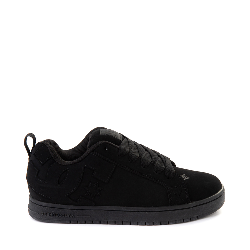 Mens DC Court Graffik Skate Shoe - Black Monochrome