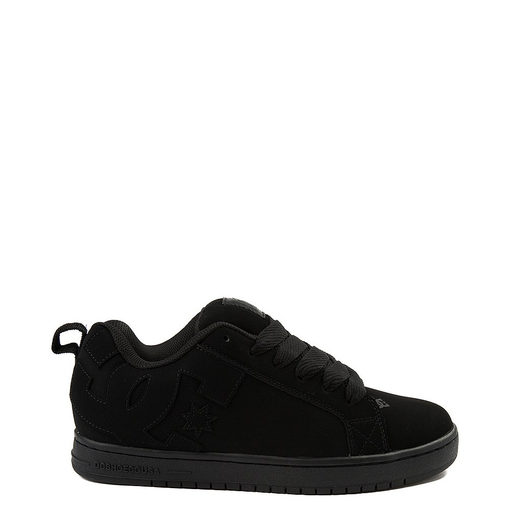 Mens DC Court Graffik Skate Shoe - Black Monochrome