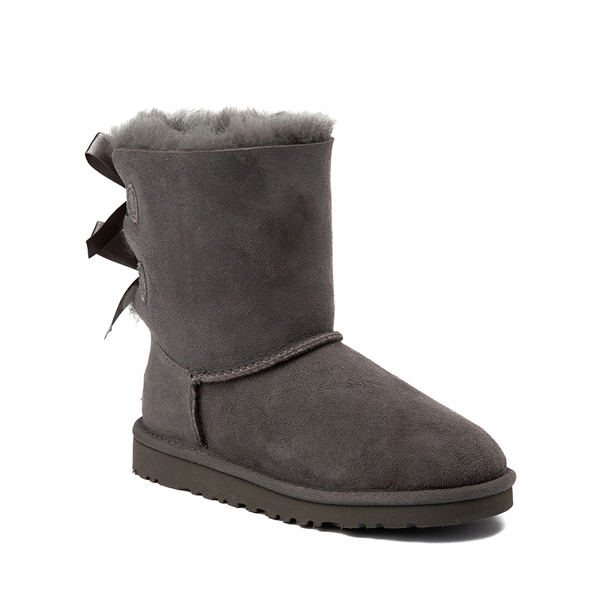 alternate view UGG® Bailey Bow II Boot - Little Kid / Big Kid - GrayALT5