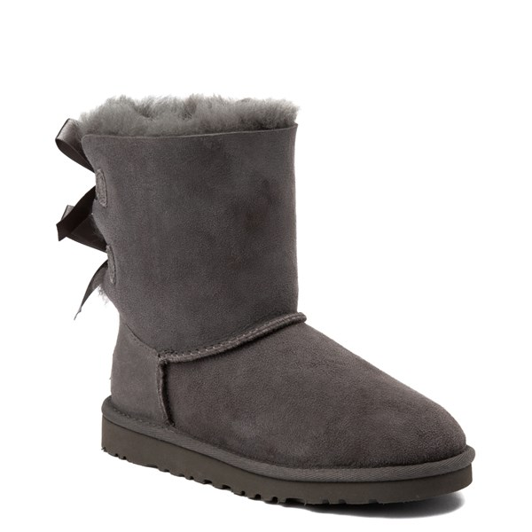 alternate view UGG® Bailey Bow II Boot - Little Kid / Big Kid - GrayALT1
