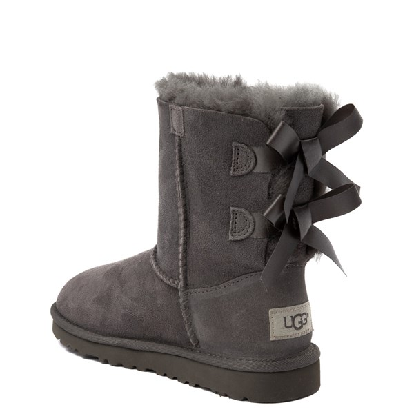 alternate view UGG® Bailey Bow II Boot - Little Kid / Big Kid - GrayALT2
