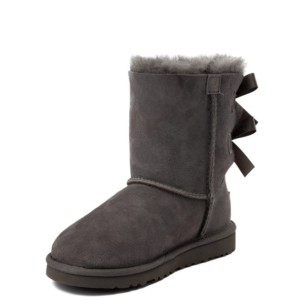 alternate view UGG® Bailey Bow II Boot - Little Kid / Big Kid - GrayALT3
