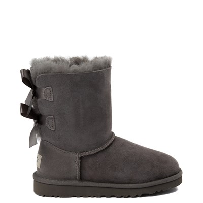 Main view of UGG® Bailey Bow II Boot - Little Kid / Big Kid - Gray