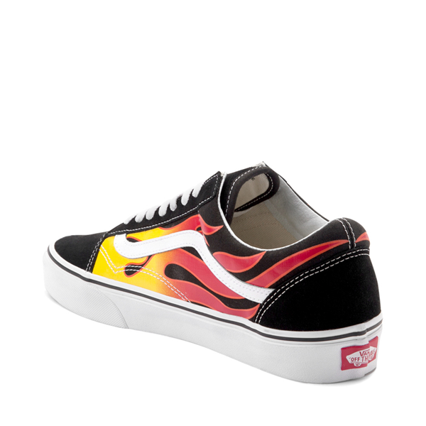 alternate view Vans Old Skool Flames Skate Shoe - BlackALT1