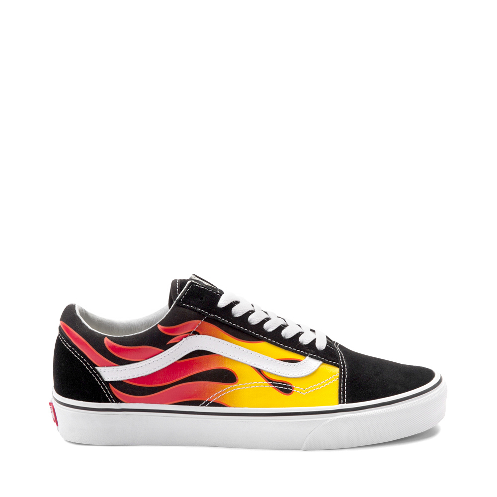 Vans Old Skool Flames Skate Shoe - Black