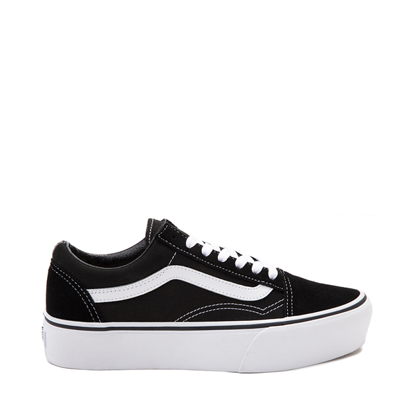 Main view of Vans Old Skool Platform Skate Shoe - Black
