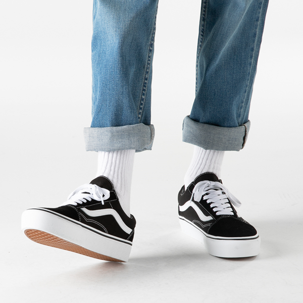 alternate view Vans Old Skool Platform Skate Shoe - BlackB-LIFESTYLE1
