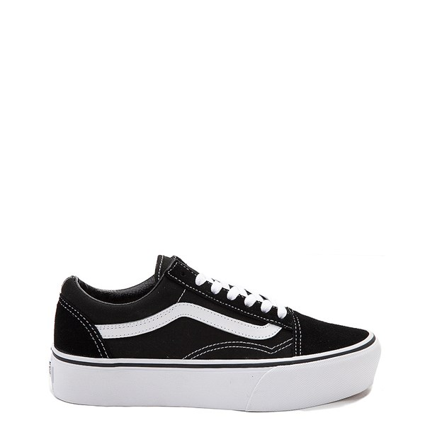 Default view of Vans Old Skool Platform Skate Shoe - Black / White