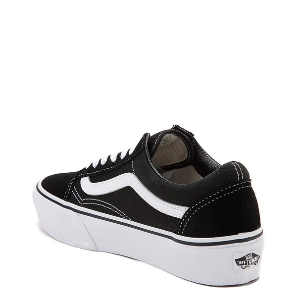alternate view Vans Old Skool Platform Skate Shoe - Black / WhiteALT2