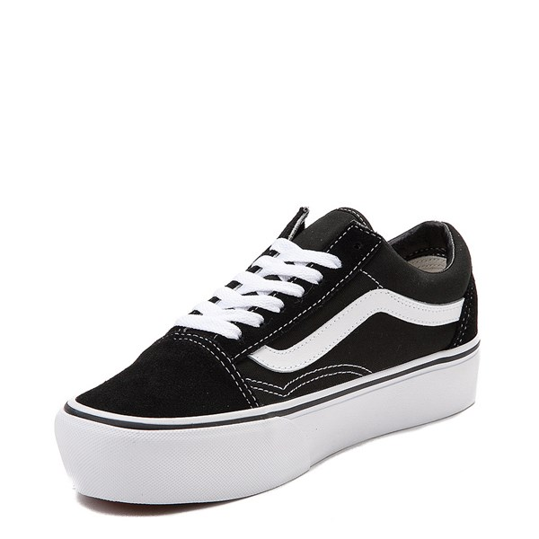 alternate view Vans Old Skool Platform Skate Shoe - Black / WhiteALT3
