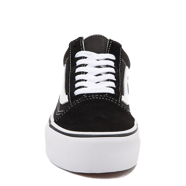 alternate view Vans Old Skool Platform Skate Shoe - Black / WhiteALT4