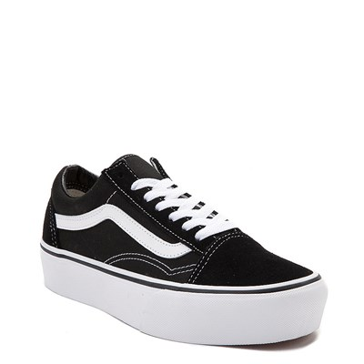Alternate view of Vans Old Skool Platform Skate Shoe - Black / White