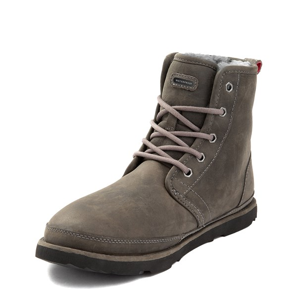 alternate view Mens UGG® Harkley Waterproof Boot - CharcoalALT3