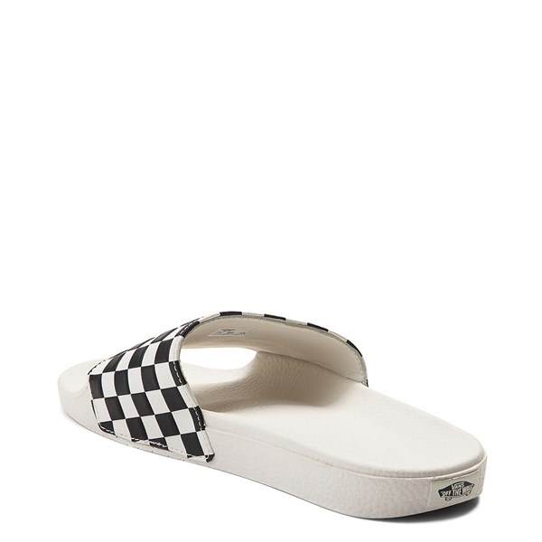 alternate view Womens Vans Slide On Checkerboard Sandal - White / BlackALT2