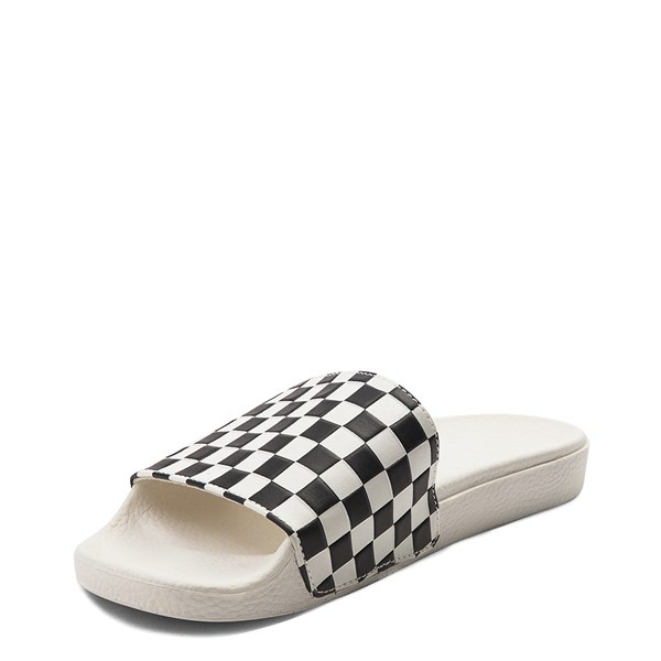alternate view Womens Vans Slide On Checkerboard Sandal - White / BlackALT3