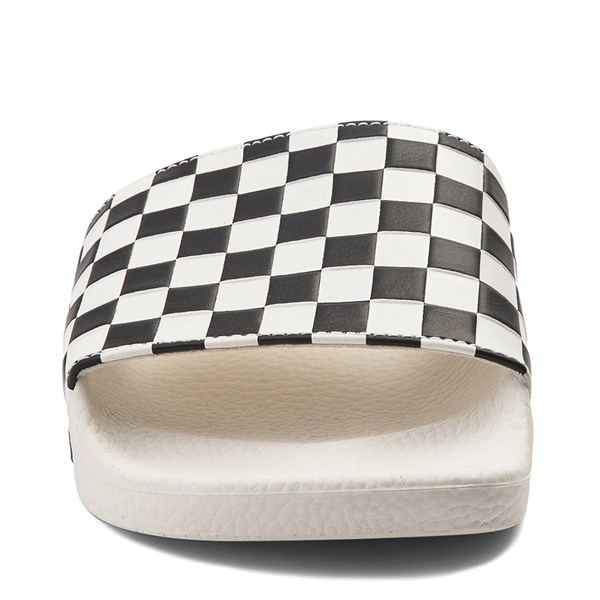 alternate view Womens Vans Slide On Checkerboard Sandal - White / BlackALT4