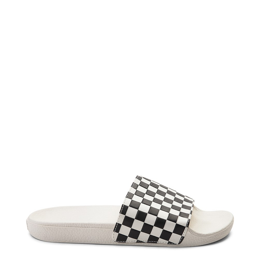 Womens Vans Slide On Checkerboard Sandal - White / Black