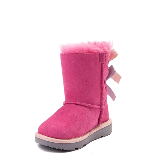alternate view UGG® Bailey Bow II Boot - Toddler / Little Kid - PinkALT3