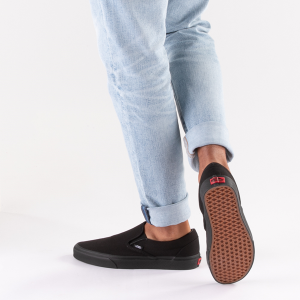 alternate view Vans Slip On Skate Shoe - Black MonochromeB-LIFESTYLE1