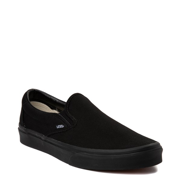 alternate view Vans Slip On Skate Shoe - Black MonochromeALT1