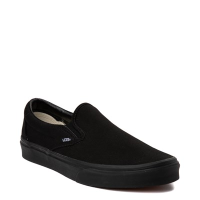 Alternate view of All Black Vans Slip On Skate Shoe