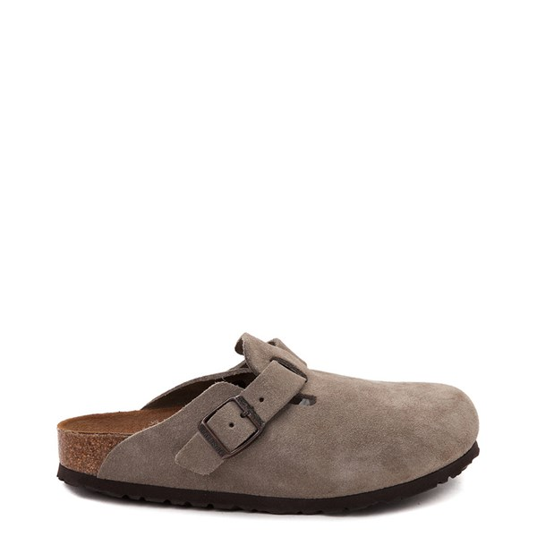 Womens Birkenstock Boston Soft Footbed Clog - Taupe