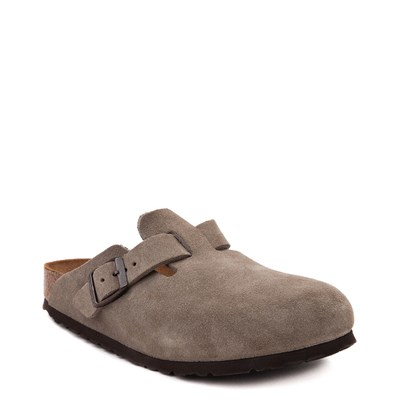 Alternate view of Womens Birkenstock Boston Soft Footbed Clog - Taupe