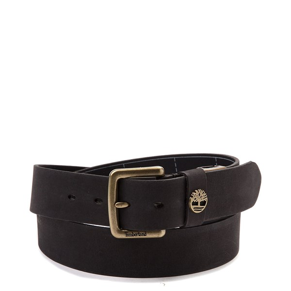 Timberland Logo Leather Belt - Black