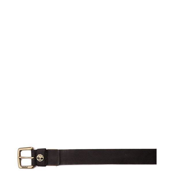 alternate view Timberland Logo Leather Belt - BlackALT1