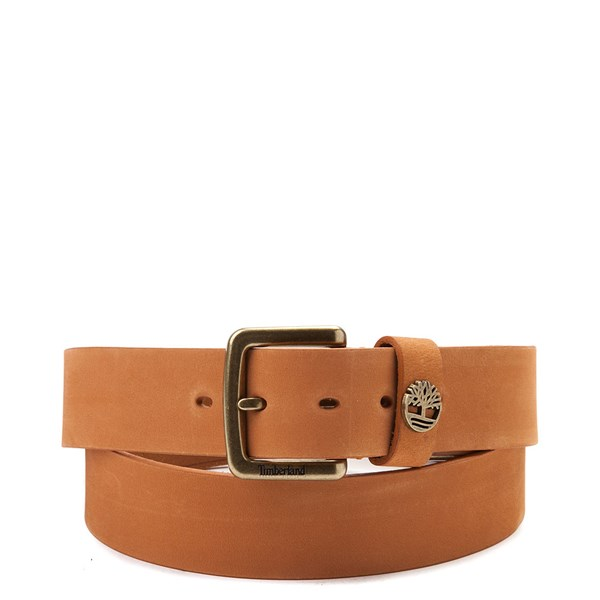 Timberland Logo Leather Belt - Wheat