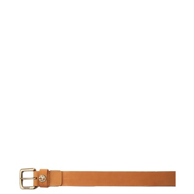 Alternate view of Timberland Logo Leather Belt - Wheat