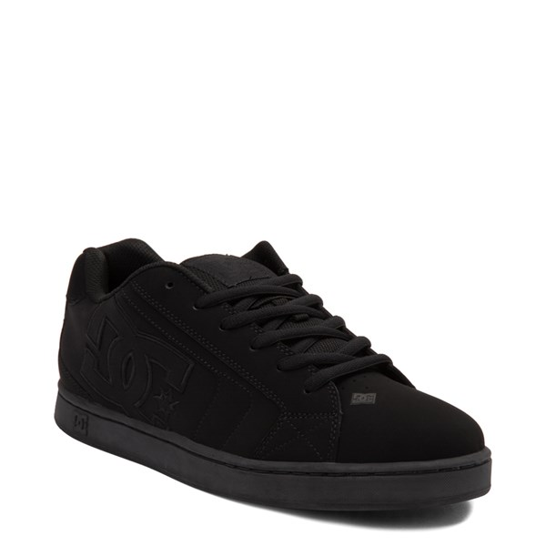 alternate view Mens DC Net Skate Shoe - Black MonochromeALT1