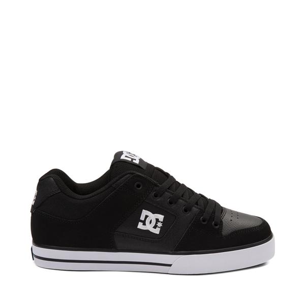 Main view of Mens DC Pure Skate Shoe - Black / White