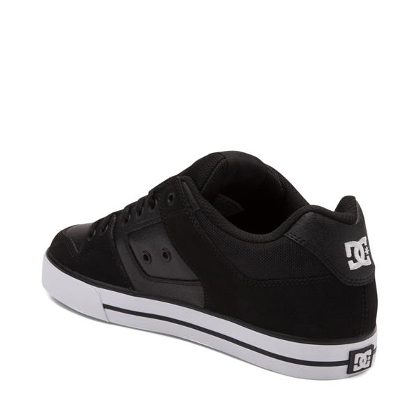 alternate view Mens DC Pure Skate Shoe - Black / WhiteALT1
