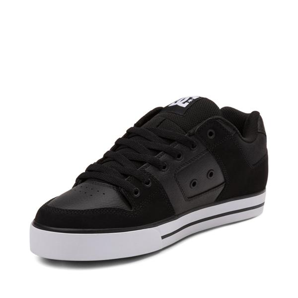 alternate view Mens DC Pure Skate Shoe - Black / WhiteALT2