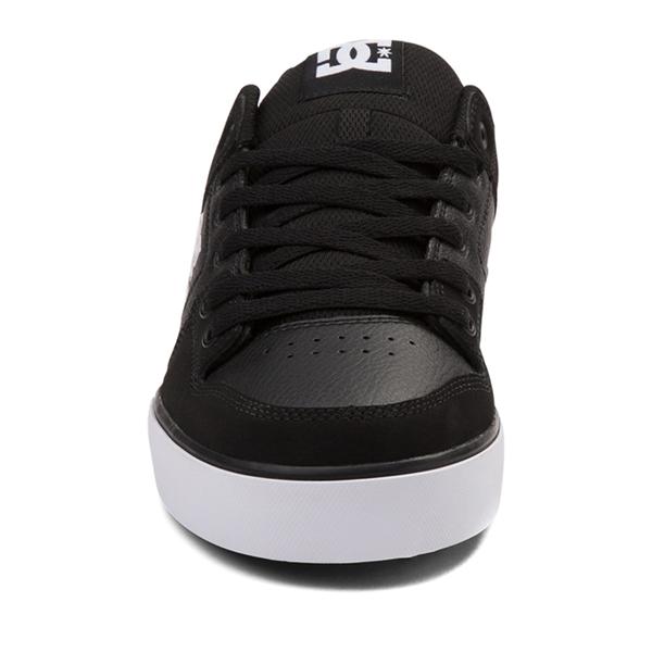 alternate view Mens DC Pure Skate Shoe - Black / WhiteALT4
