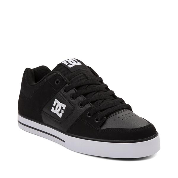 alternate view Mens DC Pure Skate Shoe - Black / WhiteALT5