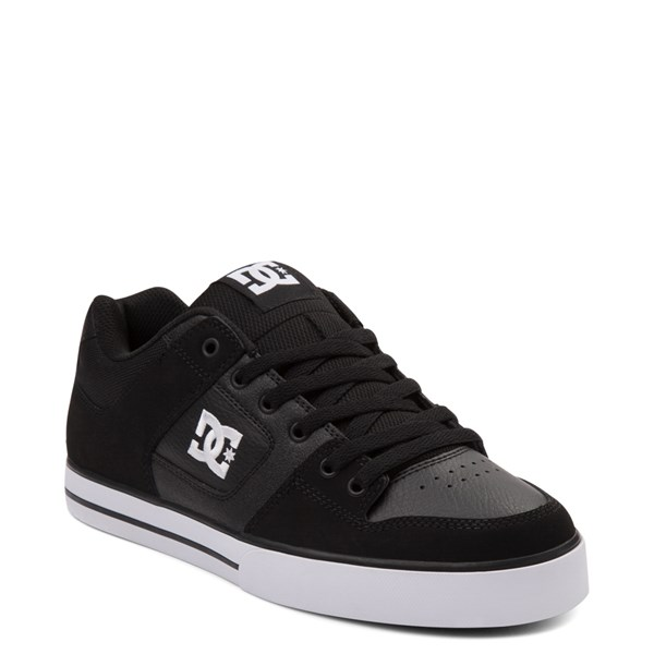 alternate view Mens DC Pure Skate Shoe - Black / WhiteALT1
